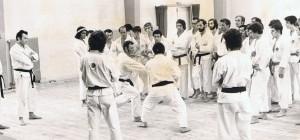 1972 en stage à Reignier avec Senseï Kasé
