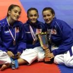 Les cadettes juniors 3ème Alanis, Emma, Anaïs
