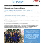 Infos janvier 2015