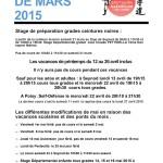 Infos mars 2015