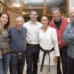 Aurélie et Gaudric avec les anciens du club
