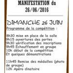 Les horaires de la manifestation