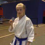 Mathilde 2ème en minimes katas