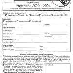 Les inscriptions 2020-2021
